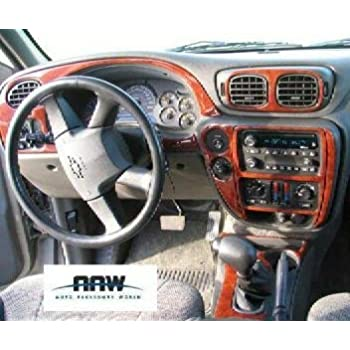 amazon com chevrolet chevy trailblazer interior burl wood dash trim kit set 2002 2003 2004 2005 automotive chevrolet chevy trailblazer interior