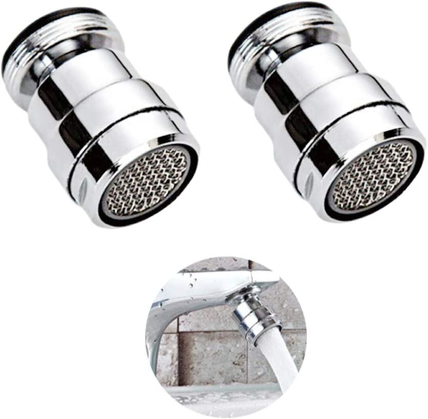 Rueda de 360 grados con 2 tipos de chorro .2pcs Filtro para ahorro h/ídrico Giratorio Aireador del Grifo guarda el aireador extra/íble para grifos de cocina