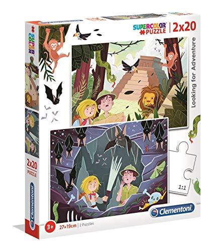 Clementoni 2 Puzzles 20 Piezas En Busca de Aventuras, Color (24763.9)