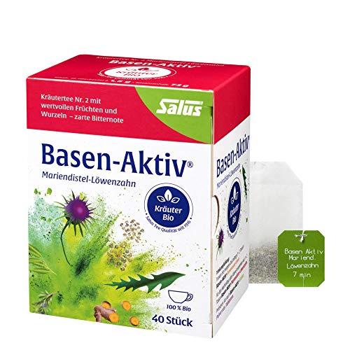 Salus Basen-Aktiv Kräutertee Nr. 2 – Tee mit Mariendistel und Löwenzahn – Hochwertige Bio Qualität – 40 Filterbeutel = 72 g