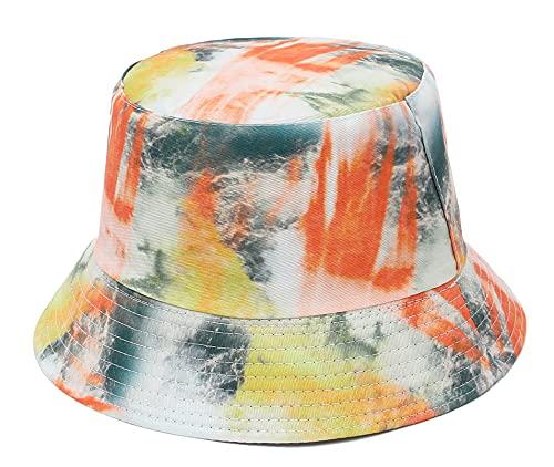 GEMVIE-Sombrero Verano para Hombre y Mujer Bucket Hat Algodón Gorro y Sombrero de Pescador Trap Mujer Plegable y Transpirable