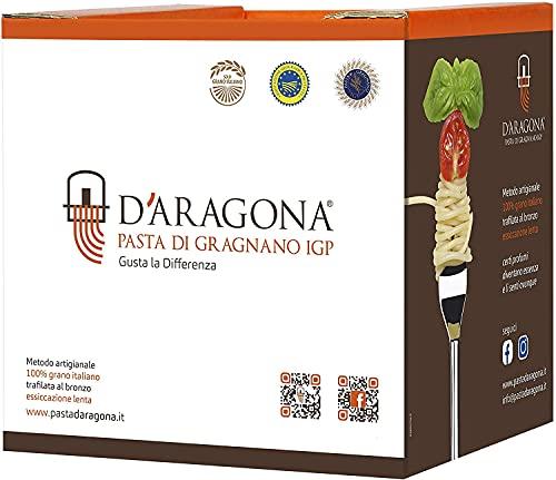 D'Aragona Pacco Dispensa 03 - GIFT BOX - Pasta D'aragona Gragnano IGP - Eccellenza Italiana, Pasta di Semola di Grano Duro Trafilata al Bronzo - Pack 6 x 500 GR