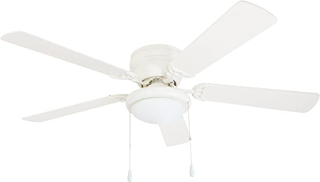 Portage Bay 50254 Hugger 52 White West Hill Ceiling Fan With Bowl Light Kit Amazon Com