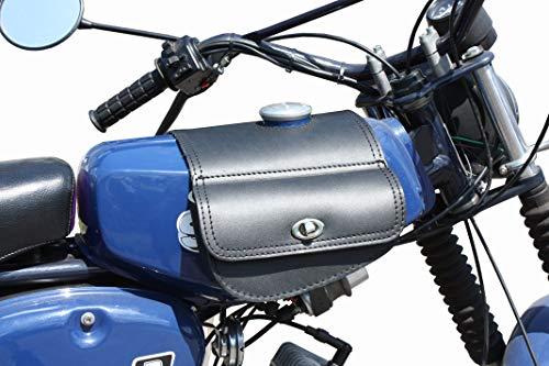 Leder Tanktasche mit Schnellverschluss Tankrucksack Tasche Packtasche Schwarz für Simson S50 S51 S70
