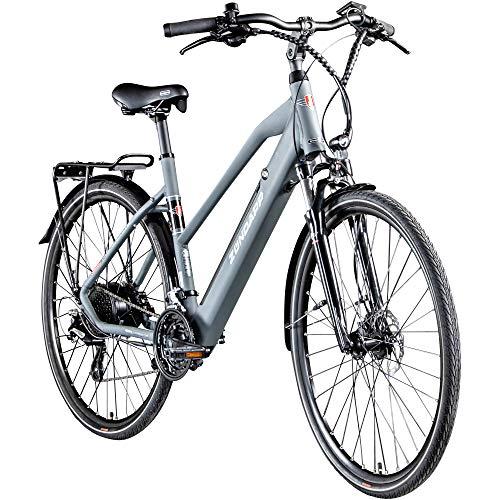 Zündapp Z810 Damen E-Bike Trekkingrad Pedelec E-Trekkingrad Fahrrad Trekking Bike StVZO (grau, 50 cm)