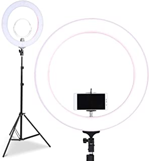 "Embellir Camera Photo Video Light with 19""/48.5cm Continuous Output 60W 5500K LED Ring Light, Light Stand, AU Adaptor, Pho..."