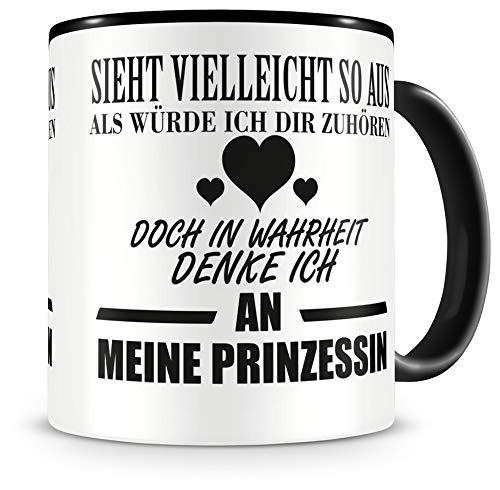 Samunshi® Ich denke an meine Prinzessin Tasse Kaffeetasse Teetasse Kaffeepott Kaffeebecher Becher