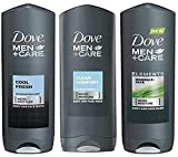 Dove Men + Care Body Wash Variety Value Pack of 3 Flavors - Clean Comfort, Cool Fresh, and Minerals + Sage - 13.5 Oz (400ml) Each - International Version