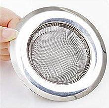 Garden Of Arts Stainless Steel Strainer Kitchen Drain Basin Basket Filter Stopper Drainer Sink Jali (9 cm)