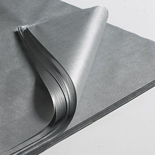 Creavvee® Decoupage Seidenpapier 50x70 cm, Silber 25 Bögen