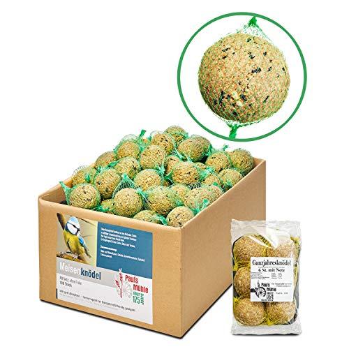 Paul´s Mühle Meisenknödel mit Netz im Karton, 100 Stück inkl. extra 6 Ganzjahresknödel