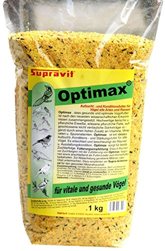 Supravit Optimax 1 kg Aufzuchtfutter & Konditionsfutter für Vögel aller Arten und Rassen