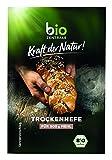 biozentrale Trockenhefe   1 Päckchen getrocknete Bio-Hefe entspricht ½ halben Würfel Frischhefe   reicht für 500 g Mehl   vegan und glutenfrei   für herzhafte und süße Backwaren