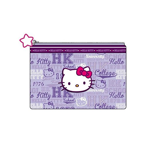 Hello Kitty - trousse plate violette 21.5 x 16 cm - collection college country