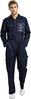 TOPTIE Personalized Men's Action Back Coverall with Zipper Pockets, Customize Your Own Design