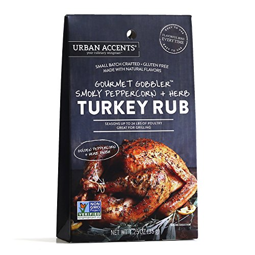 Gourmet Gobbler Smoky Peppercorn and Herb Turkey Rub – Turkey Seasoning Spices - Urban Accents,...