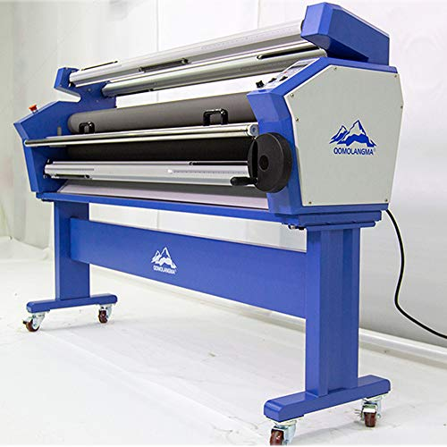 US Stock - 63in 1600mm Full-auto Wide Format Laminator Heat Assisted Large Format Cold Laminating Machine with Stand