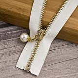 1/2 uds 85cm 120cm 5# cremallera de Metal perla ecológico de...
