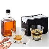 Lim Crystal Clear für den Heim-Barkeeper. Whiskey-Tablett Machen Sie 2 langsam schmelzende...