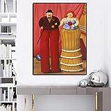 Danjiao Quadro Su Tela Moderno Famoso Fernando Botero Trampoliere Pagliaccio Stampa Astratta Di Poster Immagini Colorate Da Parete Per Soggiorno Navata Soggiorno 60x90cm