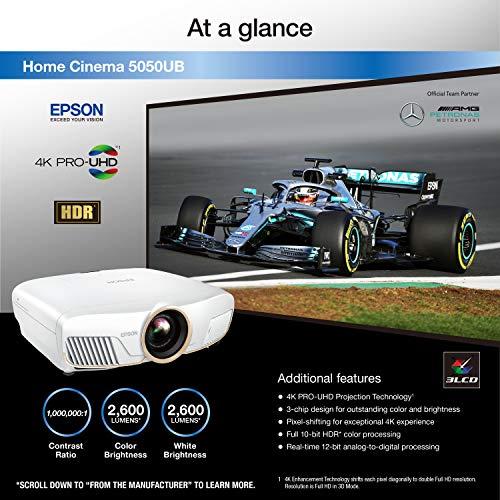 Epson Home Cinema 5050UB 4K PRO-UHD Projector