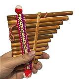 XSWY Instrument de musique sud-américain Indiana pan flûte Equateur Pérou panflûte couleur vive Grande taille...