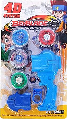 Dezzy 4 in 1 Metal Beyblades Fighter (Multicolour)