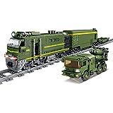 YOU339 Tecnica Modello militare MOC trenino militare militare militare con motore fai da te con luce per LEGO (1174 + STK.)