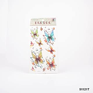 Tatuajes mariposas en verde, azul, marrón