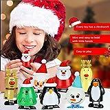 TANCUDER 8 Stücke Kinder Aufziehspielzeug Weihnachten Uhrwerk Spielzeug ABS Weihnachten Aufziehspielzeug Wind Up Figur Aufziehfigur Weihnachten Deko Figuren für Kinder - 3