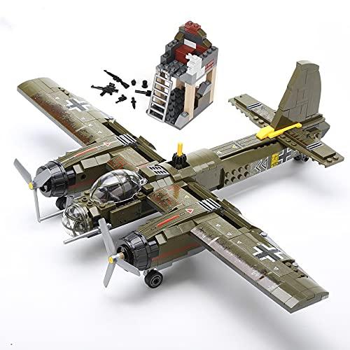 WSKL Model Bricks Kit Toy para niños 559pcs Bloque de construcción de avión Helicóptero Soldado del ejército
