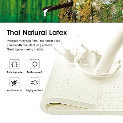 LANGRIA Natural Latex Mattress Topper