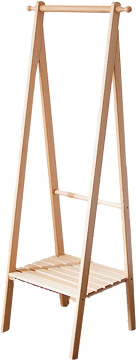Qing MEI Solid Wood Floor Coat Rack Small Apartment Simple Modern Home Bedroom Space Space Clothes Rack Hanger A++