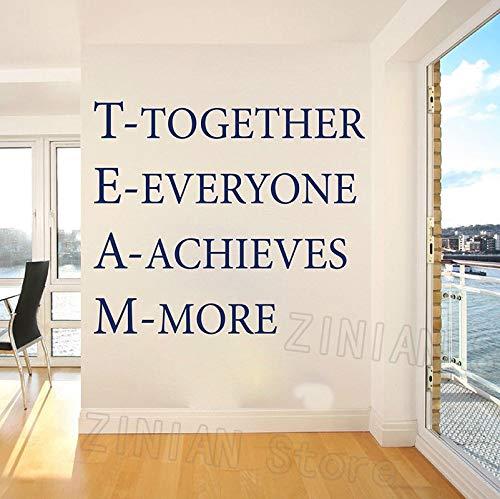 yaonuli Team muurstickers kantoor samen te bereiken inspirerende woord stickers moderne muur interieur slaapkamer