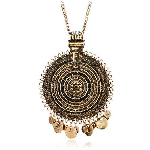 Ethnic Antique Gold Silver Big Roun…