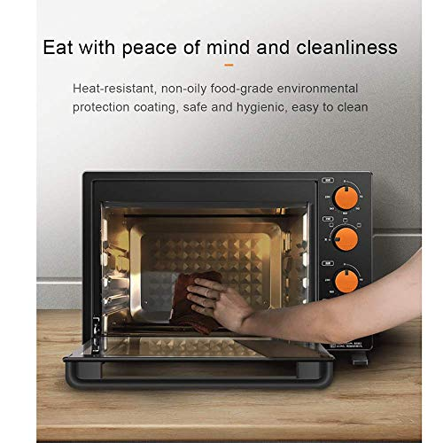 Household Electric Oven,32 Liter Mini Oven Kitchen Companion, Independent Temperature Control for Upper and Lower Pipes…
