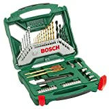 Bosch Home and Garden 2607019327 X-Line Accessory Set, 50 Pieces, Black/Gold/Silver