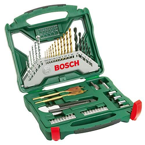 Bosch Maletín X-Line con 50 unidades para taladrar y atornillar (para madera, piedra y metal, accesorios para taladro atornillador)