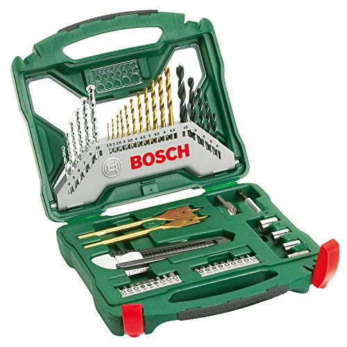Bosch 50-Piece X-Line Titanium Drill and Screwdriver Bit Set (Wood, Masonry and Metal, Accessories for Drills)