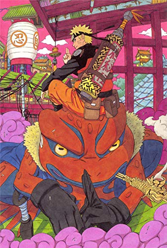 KDNM Puzzle 1000 Piezas Naruto Anime Puzzle Adultos 1000 Piezas Puzzle,Rompecabezas y Rompecabezas desafiantes para Adultos y niños, Juguetes educativos para aliviar el estrés75x50cm