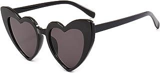LKJHG - 2021 Nuevas gafas de sol, gafas de sol, gafas con corazón de gradiente, gafas de sol antiultravioleta
