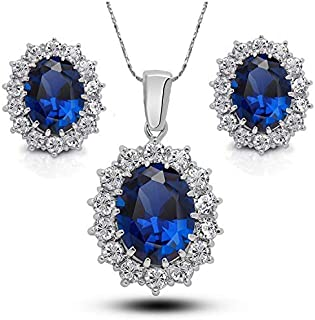 Women's Alloy Zircon Necklace/Earrings Jewelry Set