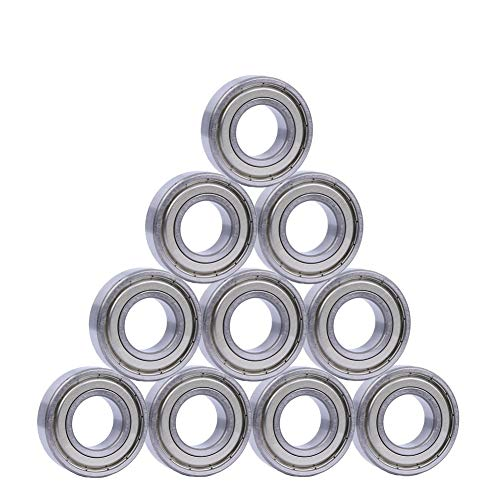 608ZZ 8 x 22 x 7 mm Deep Groove Ball Bearing, 10 Pcs Double Metal Shielded, Fit for Skateboard Bearings, 3D Printer RepRap Wheel, Longboard, Roller Skates, Inline Skates, Scooters etc. (Pack of 10)