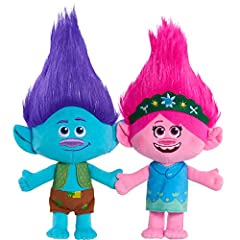 This product ships in a polybag. It's Hug Time. Poppy and Brach hold hands! Each plush stand 13-inches tall. Come dressed in their outfits from the movie. Features shimmery Mylar hair accents. Friendship 2-Pack includes both Poppy and Branch. Ages 3+