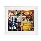 TOPINCN Casa de Muñecas DIY Mini Kit de Casa Colgando Marco de Fotos para Ornamento de Hogar Decoración de Mesa Regalos de Cumpleaños