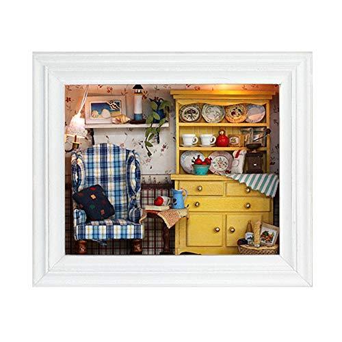 TOPINCN DIY Puppenhaus Mini Haus Kit Hängenden Bilderrahmen für Home Ornament Tabletop Decor Geburtstagsgeschenke MEHRWEG VERPACKUNG