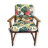 4L Textil Cuscino per panca da giardino per dondolo, cuscino da panchina e schienale, cuscino da giardino, facile da pulire, 50 x 50 x 50 cm, verde tropicale