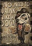 zaishuiyifang Carteles E Impresiones De Pintura En Lienzo Animal Bebiendo Cerveza Arte De Pared De Dibujos Animados Decoración del Hogar Pintura Colgante Sin Marco B2398 50X70Cm