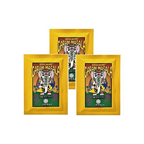 八幡屋礒五郎 七味ガラムマサラ 15g袋入 3袋セット