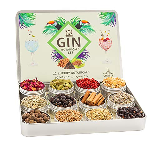 Gin Botanicals and Infusions Kit. Set of 12 Finest Botanicals and Spices for Gin